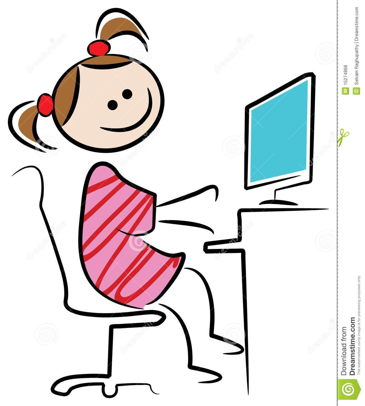 Typing Clipart.