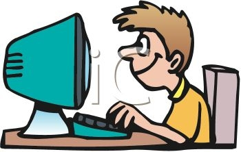 Typing On Computer Clipart.