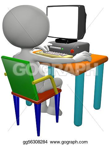 Typing Stock Illustrations.