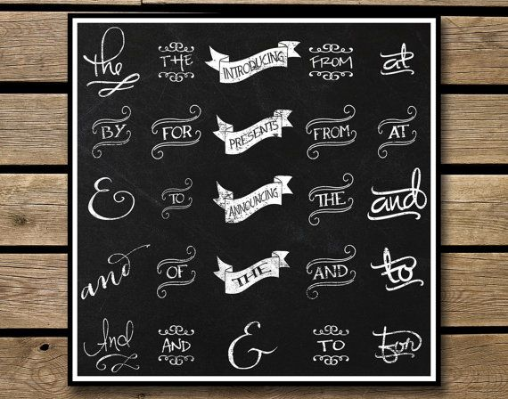 Chalkboard Typography. Can be used in any project that you can.