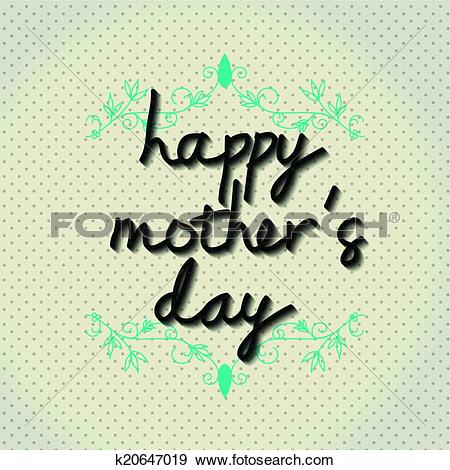"Clip Art of Typo vector with word ""happy mother k20647019."