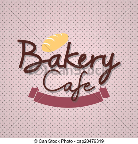 "Vector Clip Art of Typo vector with word ""Bakery Cafe"" csp20479319."