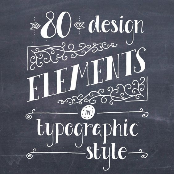 Typography Clipart In Photoshop.