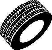 Royalty Free Tyre Clip Art.