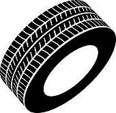 Royalty Free Tyre Clip Art.
