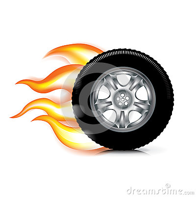 Tire On Fire Clipart.