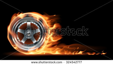 Car Flames Stock Images, Royalty.