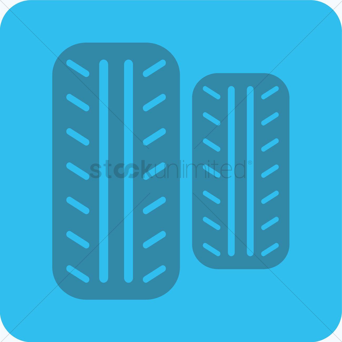 Tyre grip Vector Image.