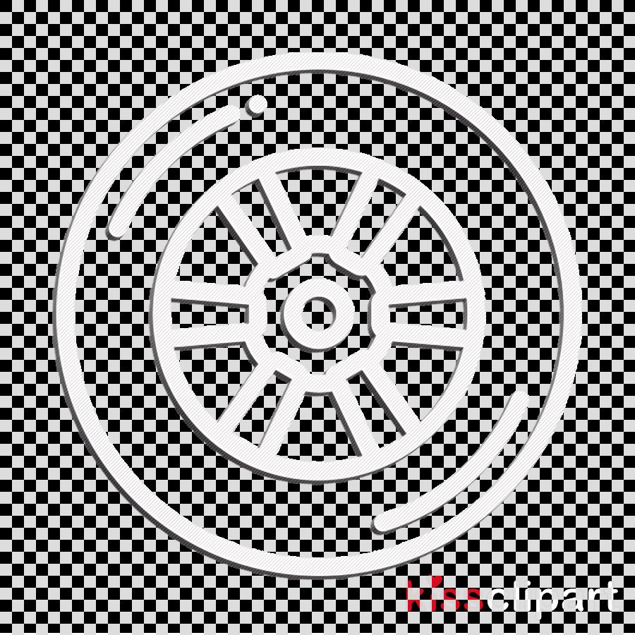 Motor sports icon Tyre icon Wheel icon clipart.
