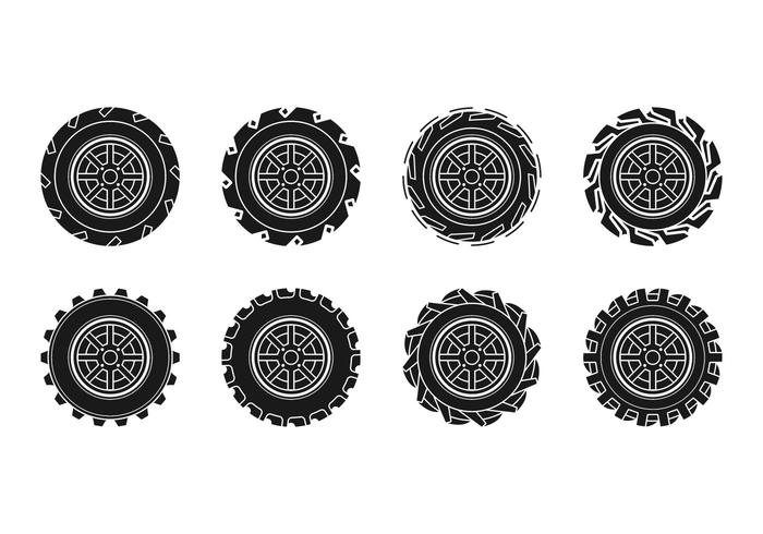 Free Tractor Tire Icon Vector.