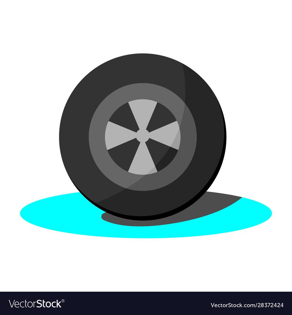 Car tyre simple clip art.