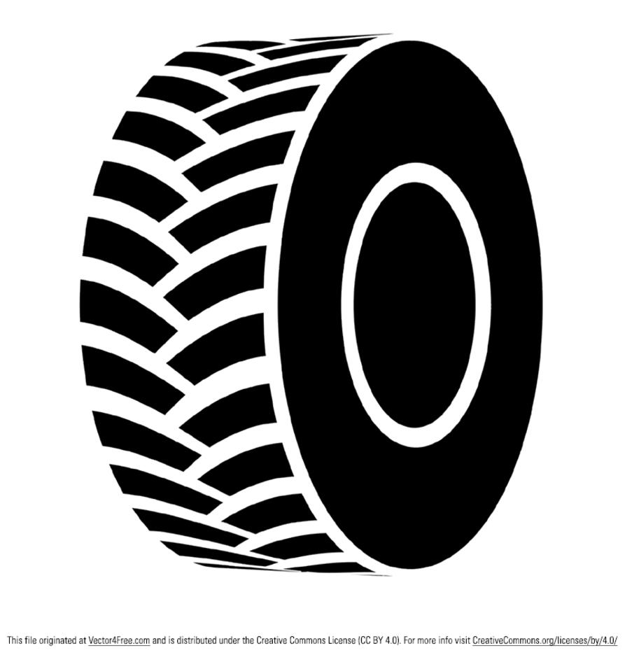 Free Vector Black Tractor Tire.