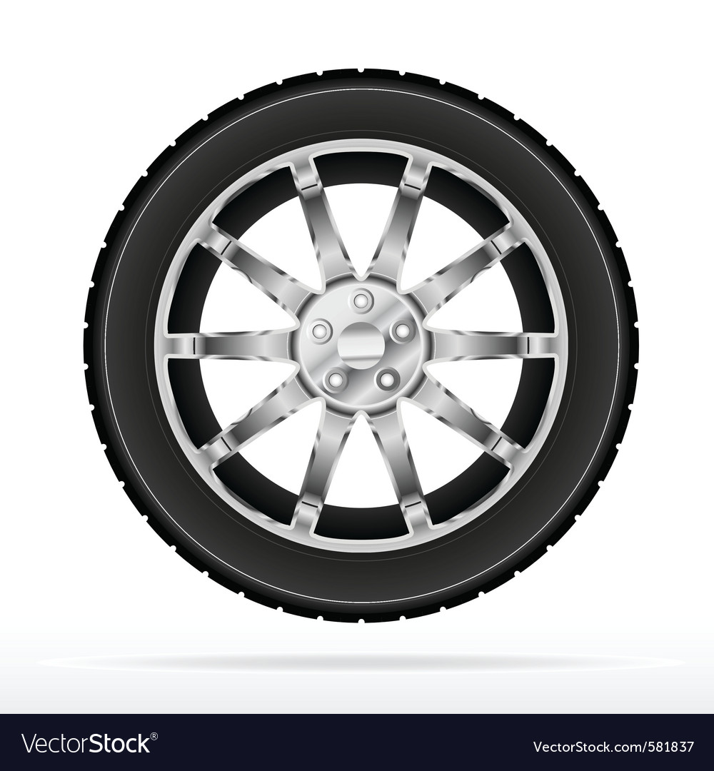 Car wheel and tyre.