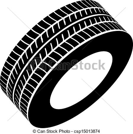 Vectors Illustration of vector black tyre symbol csp15013874.