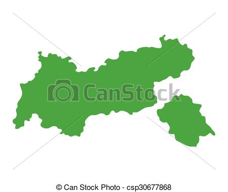 Clip Art Vector of Map of Tyrol csp30677868.