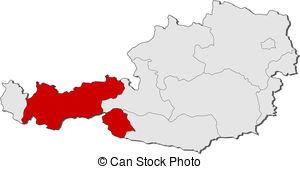 Tyrol map vector Vector Clip Art EPS Images. 113 Tyrol map vector.