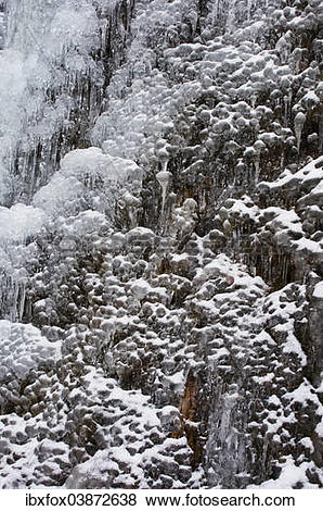"Pictures of ""Ice structures, frozen waterfall, Tyrol, Austria."