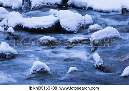 "Pictures of ""Krimmler Ache River in winter, Krimml, Tyrol, Austria."