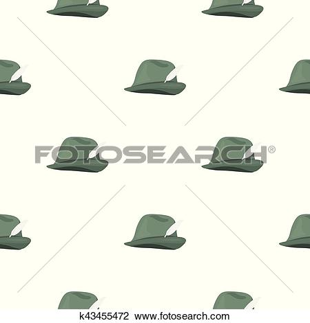 Clipart of Tyrolean icon in cartoon style isolated on white.