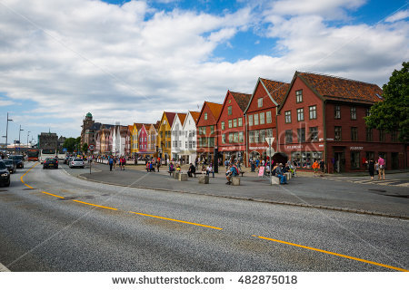 Bryggen Norway Stock Photos, Royalty.
