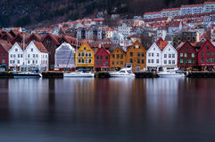 Bryggen In Bergen, Norway Editorial Photography.