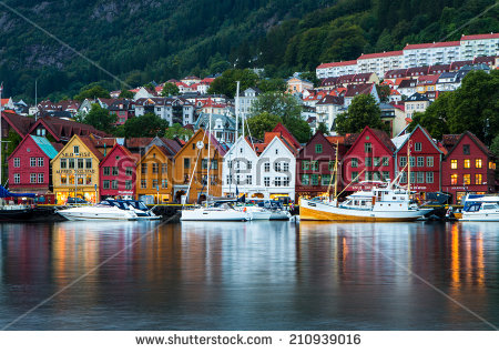Scenic Summer Panorama Old Town Pier Stock Photo 172245677.