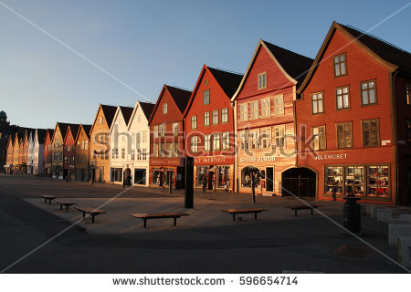 Bryggen Stock Images, Royalty.