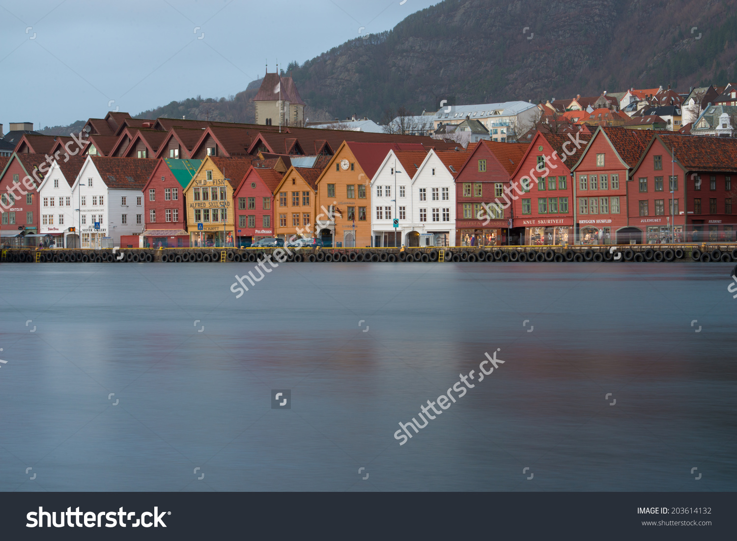Bergennorway March 7bergen Norway On March Stock Photo 203614132.