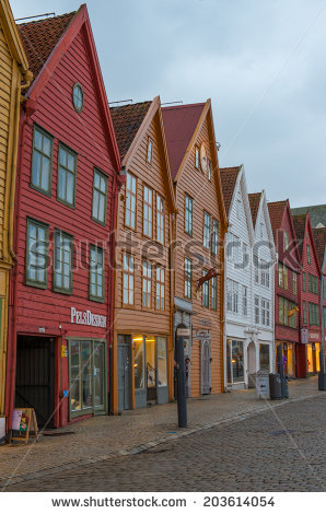 Bergen Bryggen Stock Photos, Royalty.