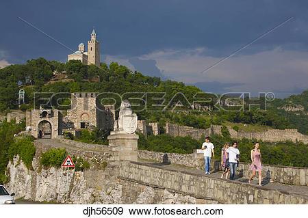 Stock Photograph of Bulgaria, Europe, Veliko Tarnovo, Fortress of.
