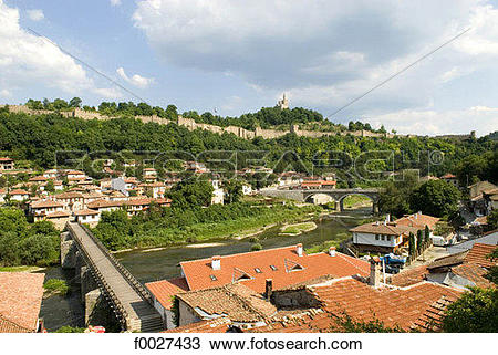Stock Photo of Bulgaria, Veliko Tarnovo, Tsarevets Hill, citadel.