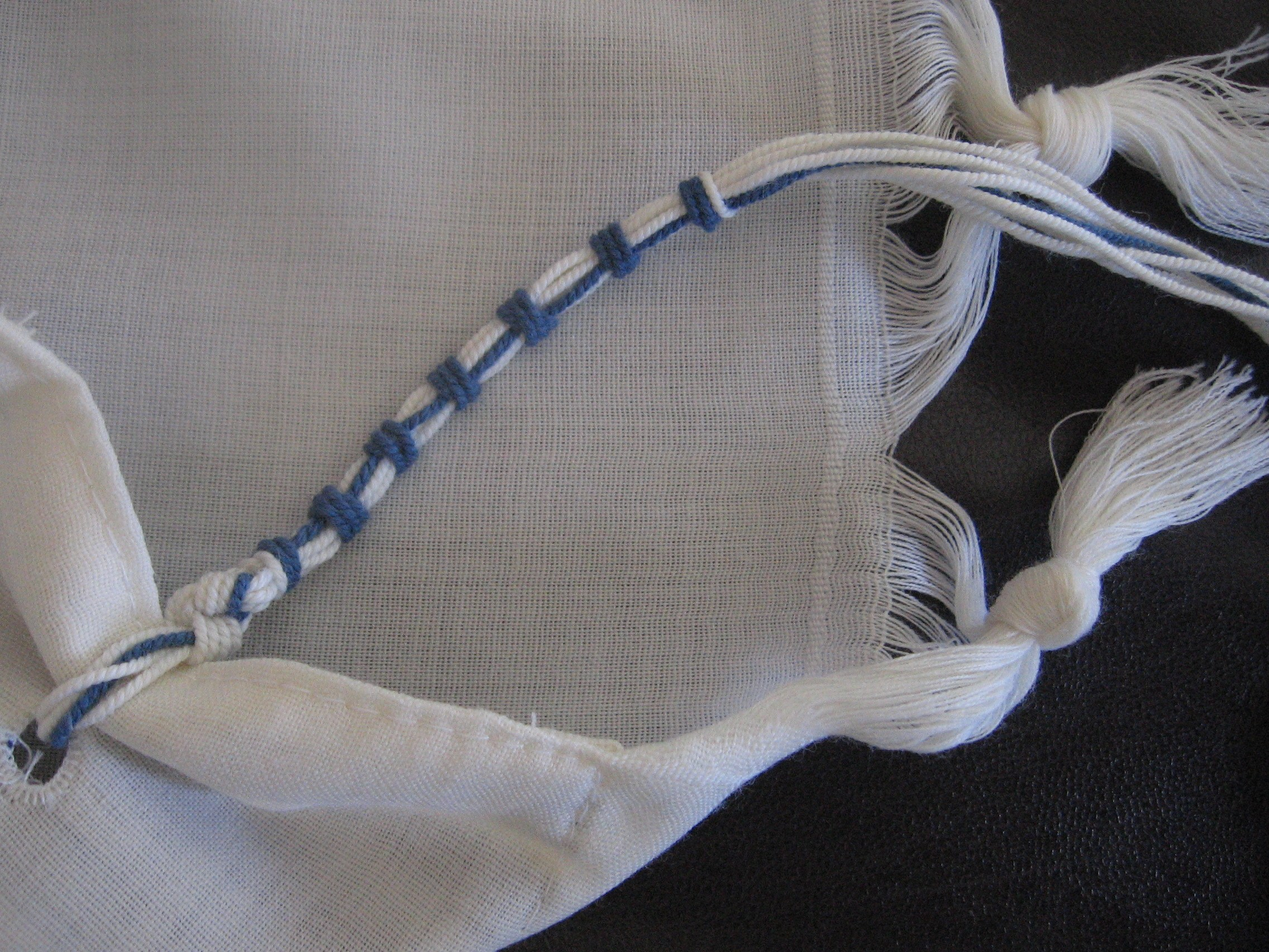Shul dressing code: tallit and tzitzit.