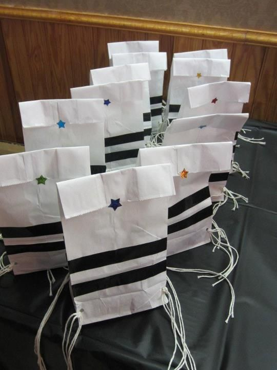 Tzitzit party bags!!! I just thought this was funny! :).