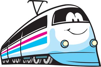 Passenger Train Clipart.