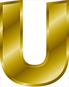 Letter U Clipart.