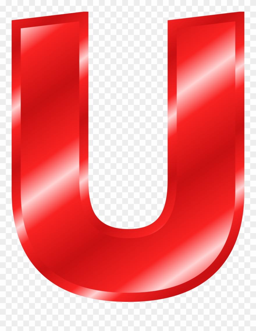 Big Red Letter U Clipart Decorative Letters Clip Art.