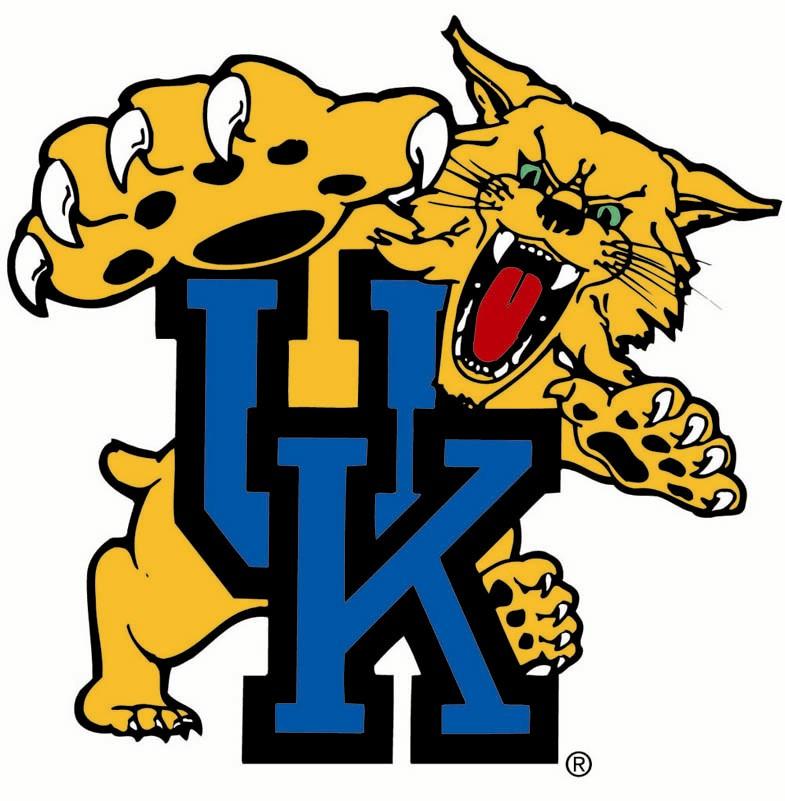 U Of K Wildcats Basketball Clipart.