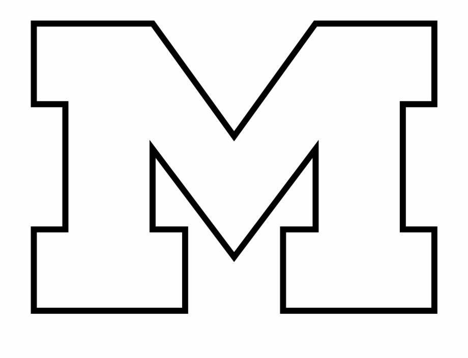 Michigan Wolverines Logo Black And White.