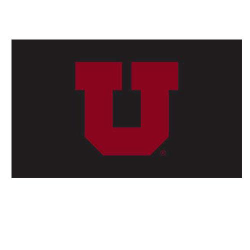 University of Utah Black and Red Block U Flag.