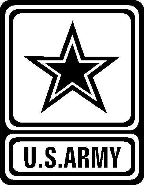 U.s. Army Logo Black And White Clipart.