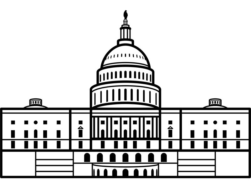 U.S. Capitol Building by Steve Morris on Dribbble.