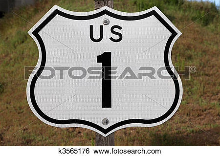 Stock Images of US Highway 1 Sign k3565176.