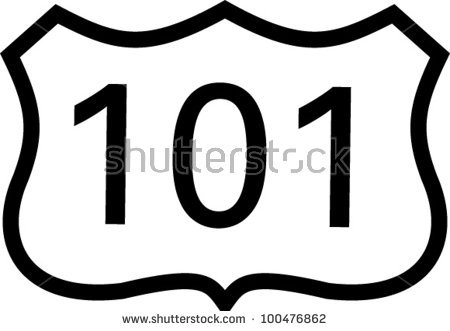 Highway 101 Stock Images, Royalty.