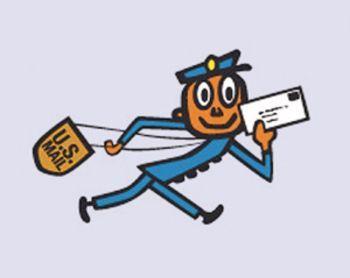 1960\'s Mr. Zip ( Zippy ) U.S Post Office logo.