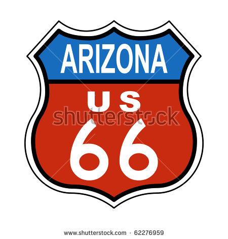 Arizona Route Us 66 Sign Stock Illustration 62276959.