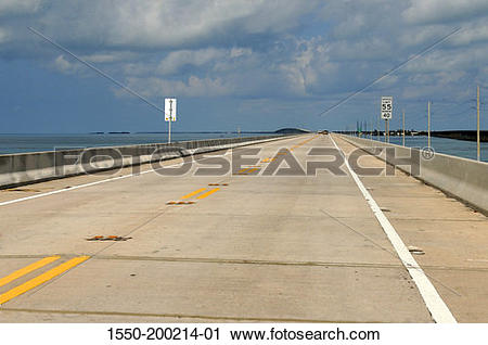 Stock Photography of Florida, Key West, U.S. Route 1, Highway to.