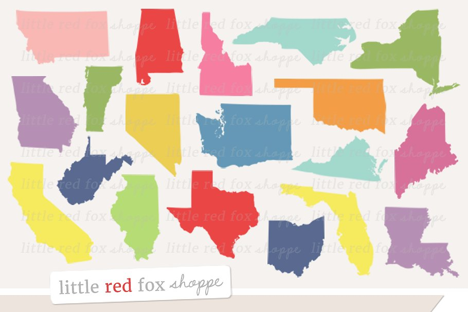 US State Clipart.