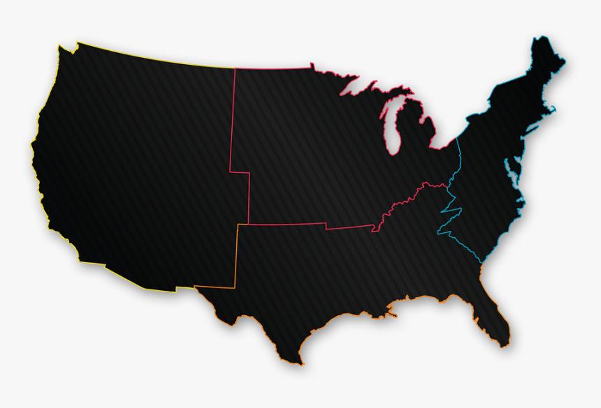 Us States Clipart Techflourish Transparent Background.