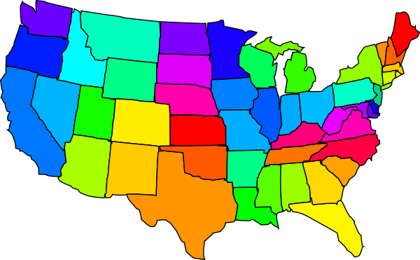 Library of image transparent map of us states png files.