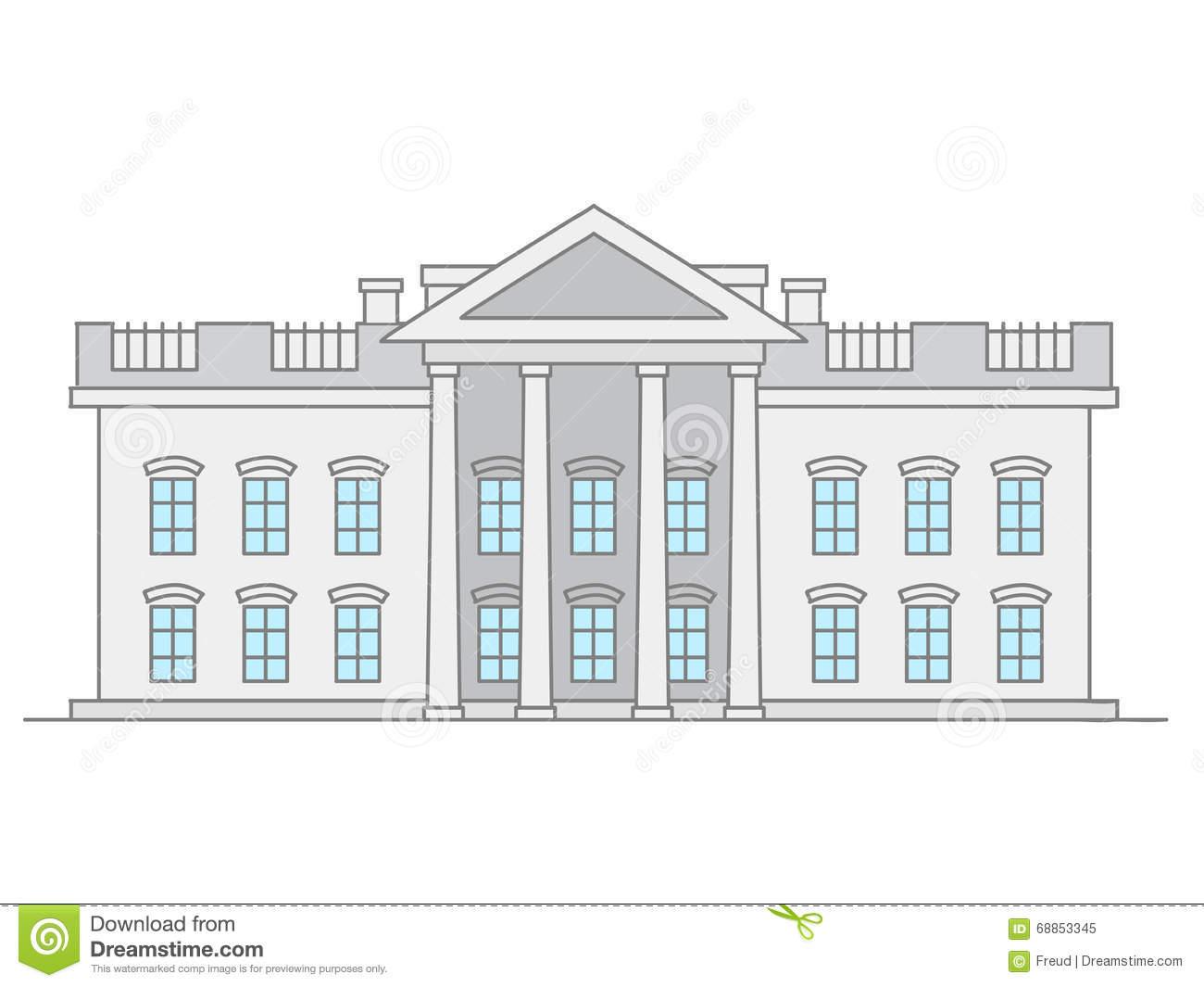 Ubited States Supreme Court Building Stock Vector.